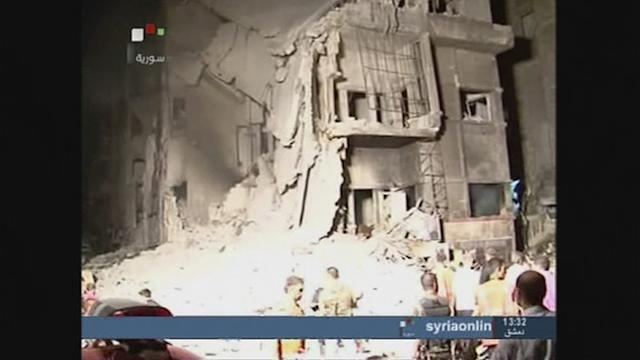Syrian TV airs footage after Sunday's attack by rebels