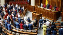 Ukraine parliament takes aim at president's election reform plan
