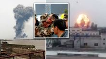 Horrifying footage shows moment chemical plant explodes leaving at least 47 dead