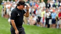 Mickelson's red number looks lonely at US Open