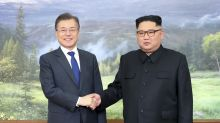 The Latest: North, South Korean leaders hold surprise summit