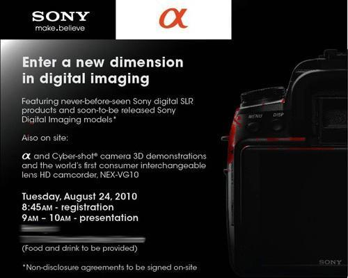 Sony circles August 24 for all-new Alpha DSLR launch event