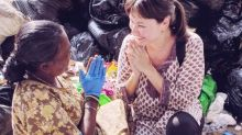 Local actress-host Eunice Olsen highlights waste pickers' plight in India