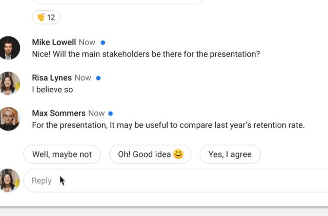 Google brings Smart Reply to Hangouts Chat