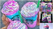 【衝擊】Starbucks推出獨角獸飲品 超Sharp顏色酸酸哋?