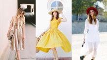 春天最適合的正是一件中長連衣裙!