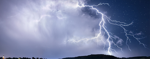 Man dies after being hit by lightning