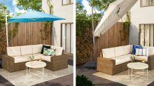 Mehr Platz im Schatten – mit den Hängesonnenschirmen von Ikea