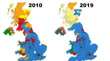 The maps that show how much Labour has lost in the 2010s