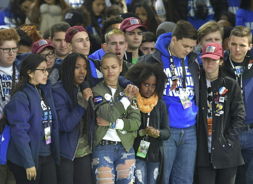 The movement has been led by teenagers from Marjory Stoneman Douglas High School where 14 students and three adults were shot dead (AFP Photo/MANDEL NGAN)