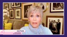 """Jane Fonda diz que covid-19 é """"um presente de Deus para a esquerda"""""""