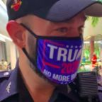 Miami officer disciplined for wearing Trump mask in uniform