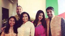 Priyanka Chopra slays in a purple saree, celebrates Diwali at her New York apartment