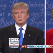 At each other from the start: Clinton, Trump debate
