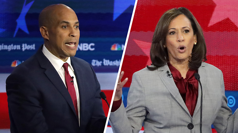 Electability is not just winning over white voters: Booker, Harris