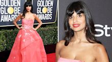 Why Jameela Jamil wore jeans underneath her Golden Globes gown