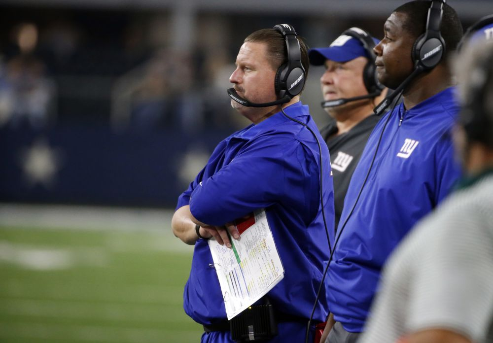 Ben McAdoo's Giants are off to an 0-2 start this season and the offense has been mostly ineffective. (AP)