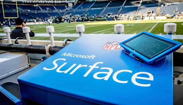 On the sidelines: how the NFL is making use of the Surface Pro 2