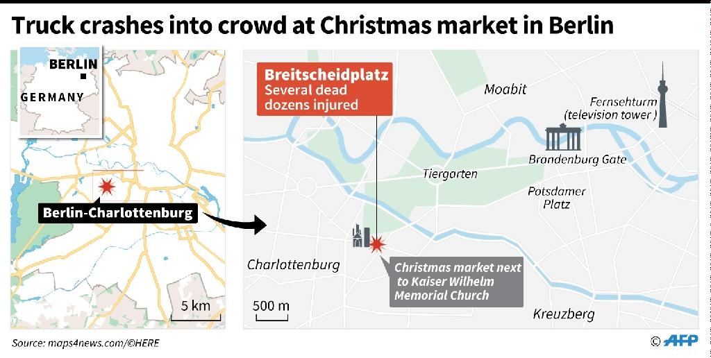 Berlin Christmas market lorry attack (AFP Photo/Thomas Saint-Cricq, Sabrina Blanchard)