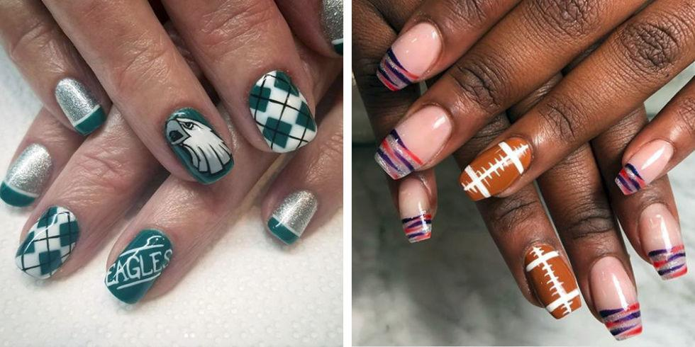 14 Best Nail Art Ideas for Super Bowl LII