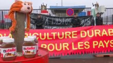 French farmers blockade over Total palm oil imports