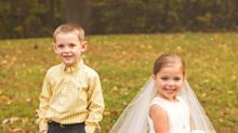 Ill 5-year-old 'marries' best friend before undergoing heart surgery