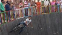Motorcyclists perform wild, gravity-defying stunts in 'Well of Death'