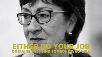 Ad targets Susan Collins: 'You're a senator. Act like it.'