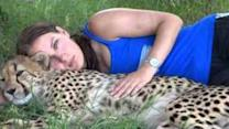 Cheetah and Girl Have a Unique Friendship