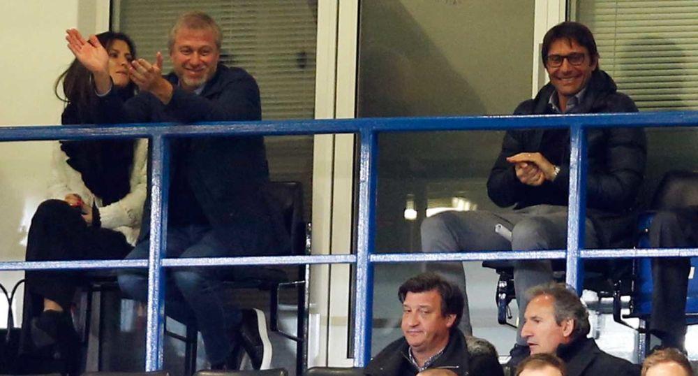 Roman Abramovich and Antonio Conte