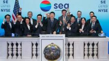 After initial slip, Sea stock recovers in IPO debut