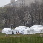 Emergency field hospital erected in the middle of New York's Central Park