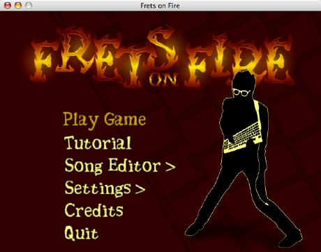 Guitar Hero-esque Frets on Fire working on Mac OS X