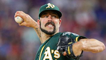 Fiers rocks questionable facial hair for Oakland