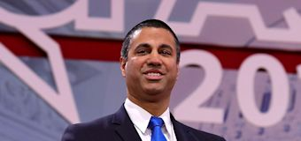 NRA awards rifle to FCC chair for net neutrality repeal