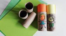¿Qué hacer con los niños? Aprovecha los tubos sobrantes del papel de baño para crear figuras y emociones