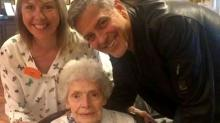 George Clooney Surprises Nursing Home Patient on Her 87th Birthday