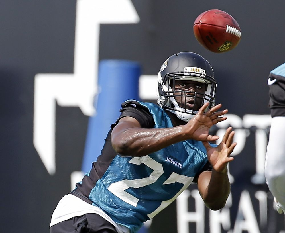 Jaguars RB Leonard Fournette donated his old trophies for a cool new project. (AP)