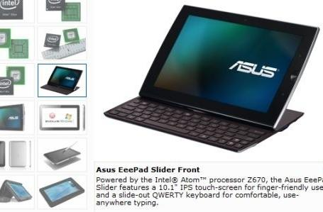 ASUS Eee Pad Slider making the jump from Tegra 2 to Atom Z670?