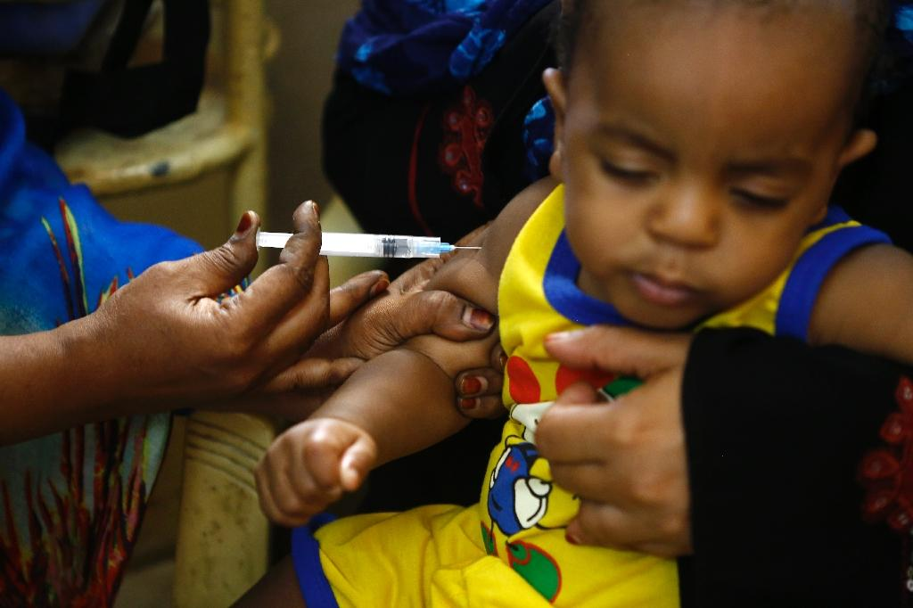 Preventing epidemics of measles requires 95 percent of the population to be immunised, says DR Congo's health minister (AFP Photo/ASHRAF SHAZLY)