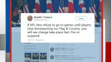 Trump: 'Standing with locked arms is good, kneeling is not acceptable'