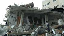 Raw: Aftermath of nearly 200 airstrikes in Gaza