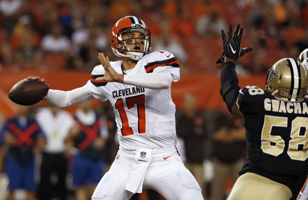 Brock Osweiler was largely off in his first preseason game with the Browns. (AP)