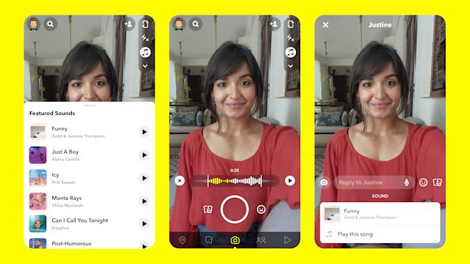 Snapchat will soon let users incorporate music into their snaps.