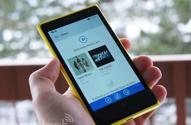 Rdio's Windows Phone music app gets a much-needed overhaul