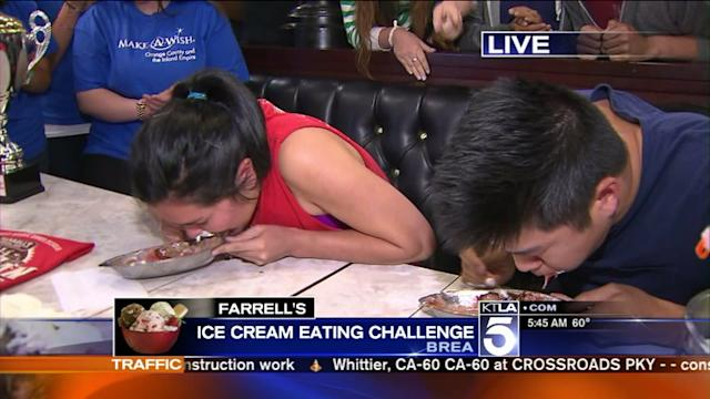 Ice Cream Eating Contest Leaves Contestant Woozy