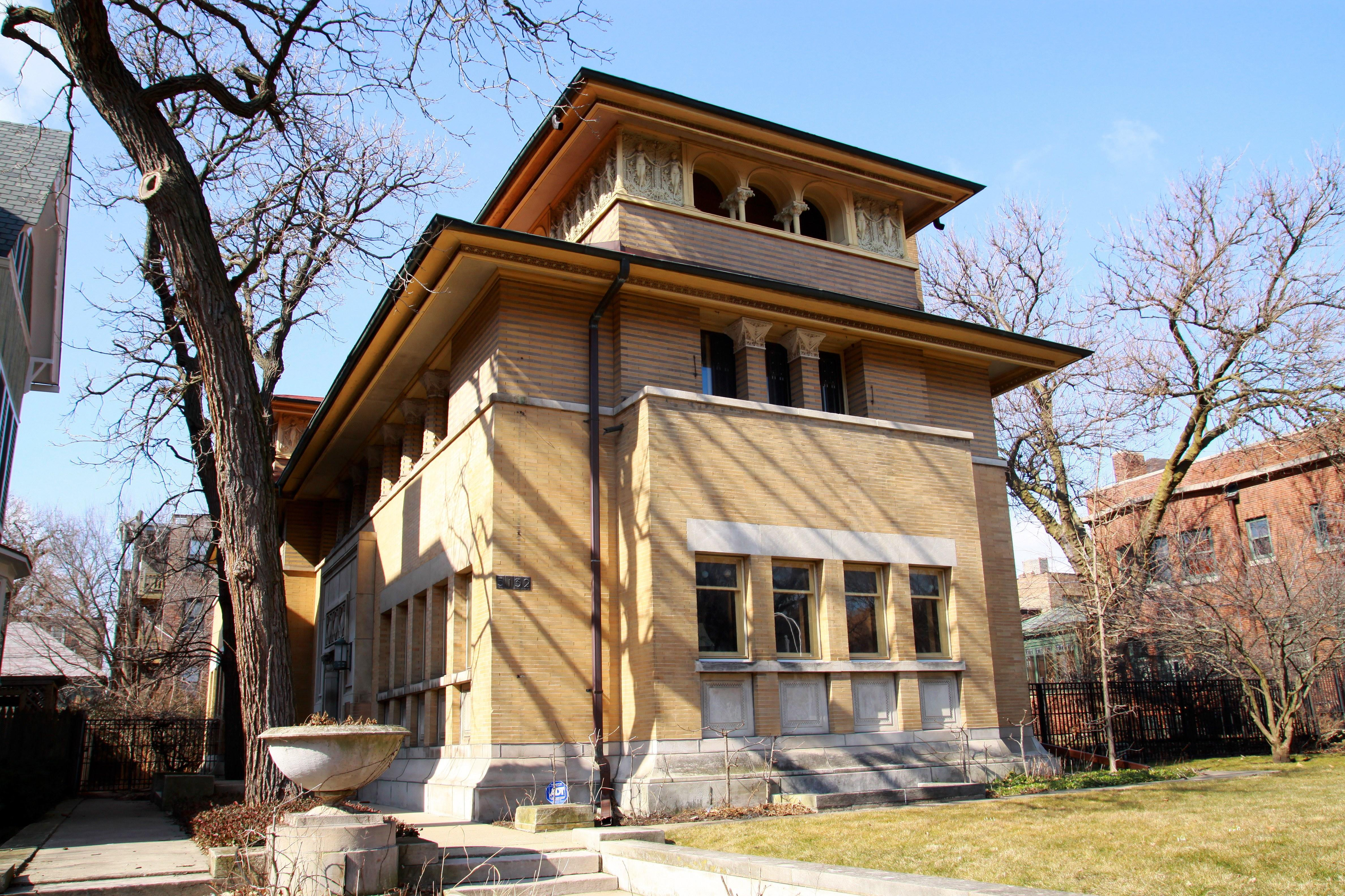reliable quality cozy fresh detailing 122-Year-Old Frank Lloyd Wright Home for Sale in Chicago