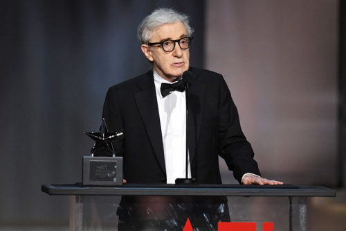 Woody Allen speaks at the American Film Institute's 45th Life Achievement Award Gala Tribute to Diane Keaton. (Photo: Kevin Winter/Getty Images)
