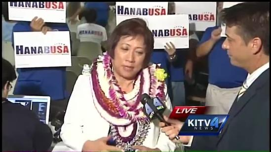Hanabusa talks about dead heat in race for U.S. Senate