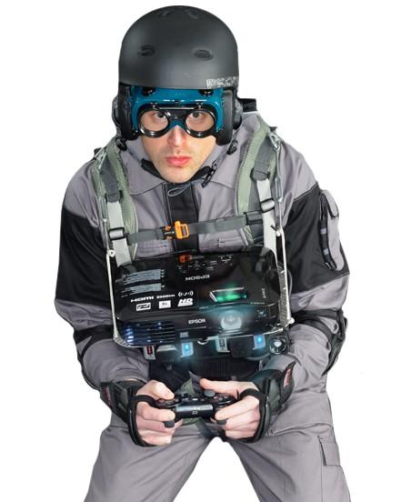 Epson says EH-TW450 is 'ultimate gaming projector,' straps PS3 on nerd in jumpsuit to prove it (video)